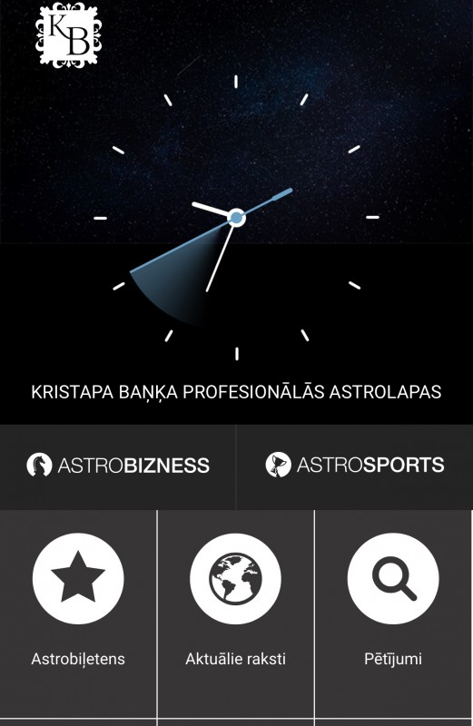 Astrobizness.lv mobilā versijā