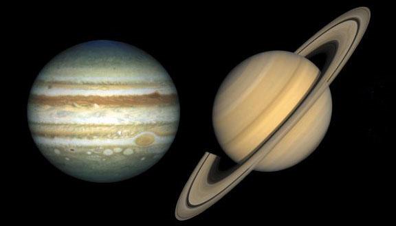Saturna un Jupitera mijiedarbība
